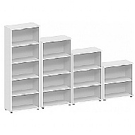 Commerce II White Office Bookcases