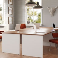 NEXT DAY InterAct Two Tone Panel End Desks