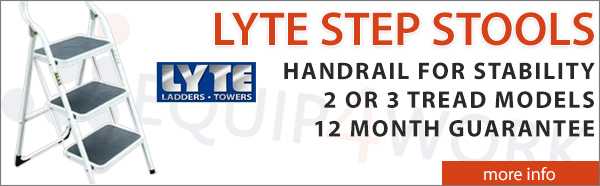 Lyte Step Stools with Extended Handrail