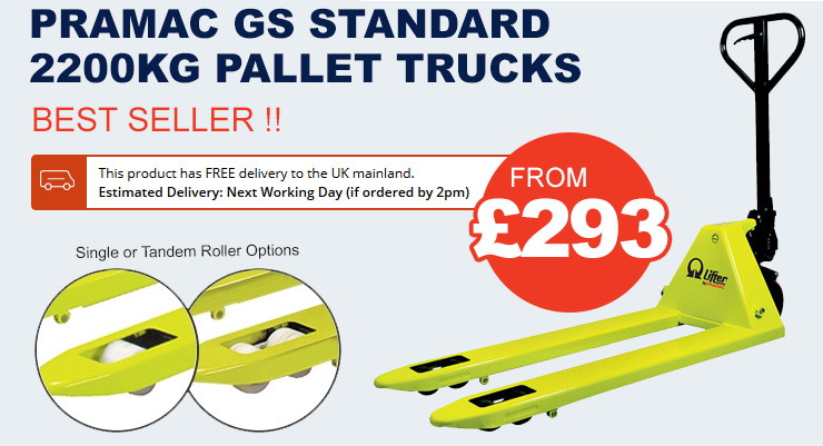 Pramac GS Standard 2200kg Pallet Trucks