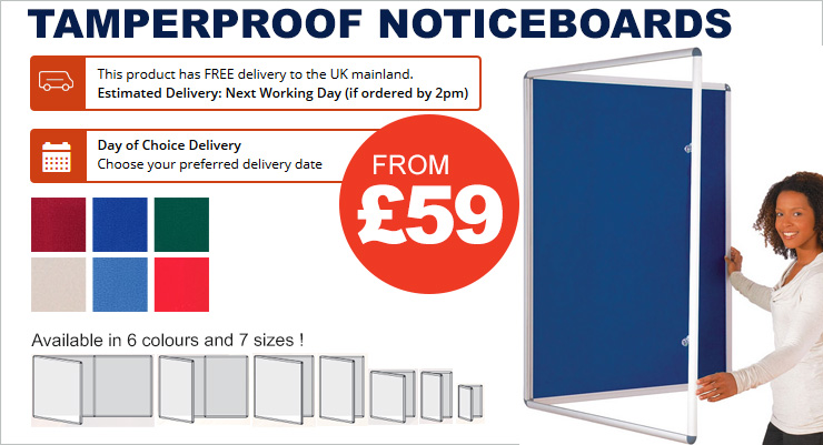 Bi Office Aluminium Framed Felt Noticeboards