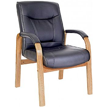 Kingston Leather Faced Visitor Chair £163 -