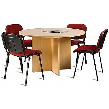 Marvelous Braemar Ii Round Conference Meeting Table Home Interior And Landscaping Eliaenasavecom