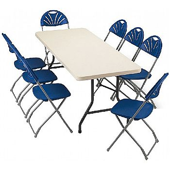 Blow Moulded Rectangular Folding Tables £52 -