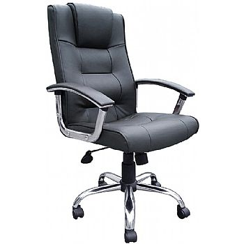 Melbourne Leather Faced Manager Chair Black £87 -