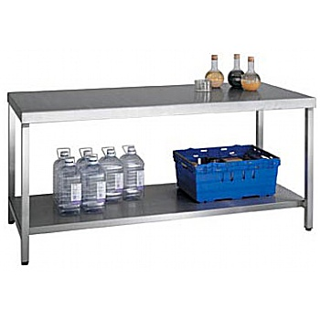 HD SS Bench With Shelf