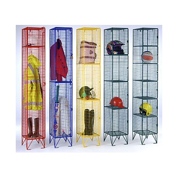 Coloured Wire Mesh Locker
