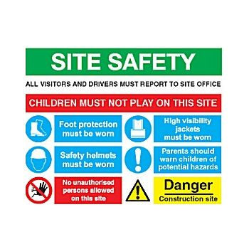 Site Safety Sign 6 £42 -
