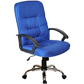 Cadiz Chrome Fabric Manager Chairs £95 -