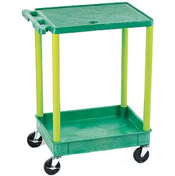Service Trolley With Coloured Legs and Shelves