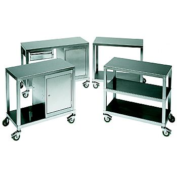 Heavy Duty Stainless Steel Shelf Trolleys