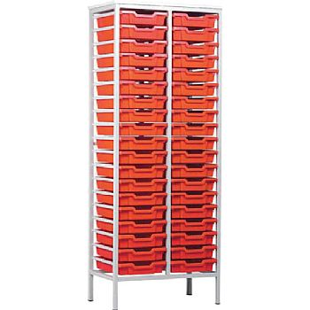 Monarch Static Double Column 38 Tray Storage Unit