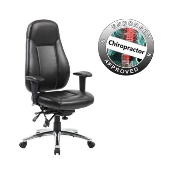 Beta 24 Hour Black Leather Task Chairs £199 -  sc 1 st  Equip4work & Beta 24 Hour Black Leather Task Chairs | Cheap Beta 24 Hour Black ...