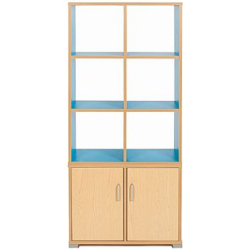 Bubblegum 6 Cube Vertical Room Divider Unit