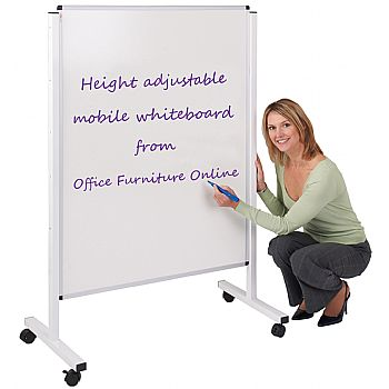 Double Sided Mobile Whiteboard Display Screen