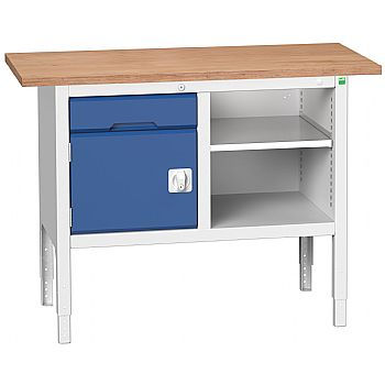 Bott Verso Storage Benches - 1250mm With Cupboard & Drawer £453 -