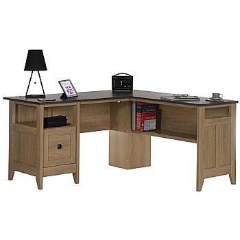 Remarkable Dover Oak Computer Desk Home Interior And Landscaping Transignezvosmurscom