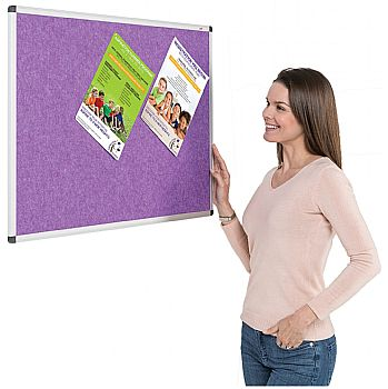 Eco-Colour Aluminium Framed Resist-A-Flame Noticeboards £42 -