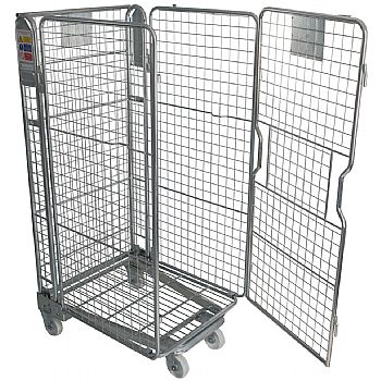 Palletower 4 Sided Mesh A-Base Nestable Roll Pallets - Zinc Plated £158 -