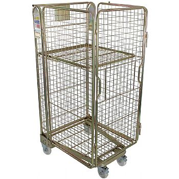 Palletower 4 Sided Mesh A-Base Nestable Roll Pallets - Gold Passivated £175 -