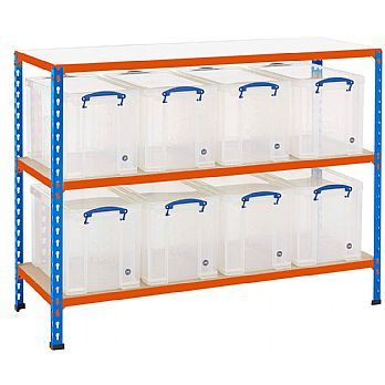 BiG340 Shelving Bay With 8 x 24 Litre Really Useful Boxes £159 -