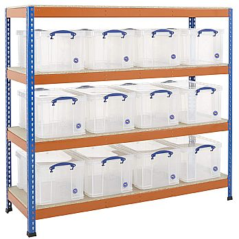 BiG400 Racking Bay With 12 x 48 Litre Really Useful Boxes £309 -