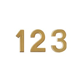 Bi-Office Letter Board Numbers 19mm Gold (Pack of 264)