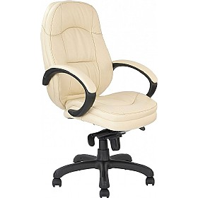 California Leather Faced Manager Chair