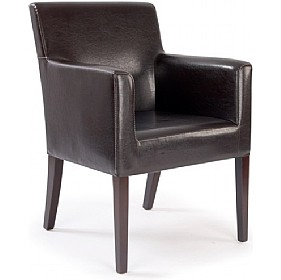 Cambridge Chocolate Leather Look Armchair