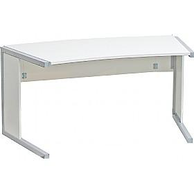 Black & White Curved Home Office Desks | Black & White Furniture