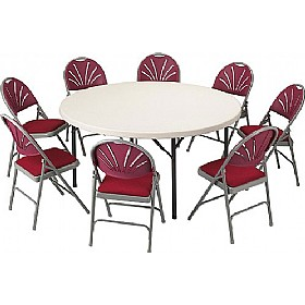 Blow Moulded Circular Folding Tables