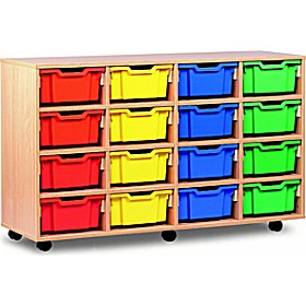 16 Tray Deep Mobile Storage