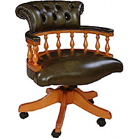 Superior Antique Replica Captains Chair £545   Office Furniture