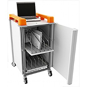 LapCabby 10V - 10 Vertical Laptop Store and Charging Trolley