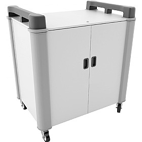 LapCabby 20V - 20 Vertical Laptop Store and Charging Trolley