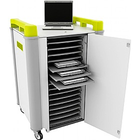 LapCabby 16H - 16 Horizontal Laptop Store and Charging Trolley