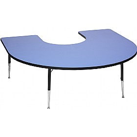 Adjustable Height Horseshoe Top Table