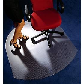 Low Pile Carpet PVC Chair Mat Contoured £36 - Office Furniture