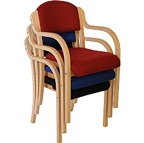 Devonshire Wooden Frame Stacking Armchairs £40 - Office Furniture