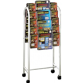 Literature Trolley 20x Third A4 & 8x A4 Pockets