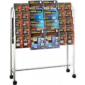 Literature Trolley 40 x Third A4 and 16 x A4 Pockets