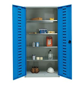 Large Volume Workshop Cupboards With Louvred Doors