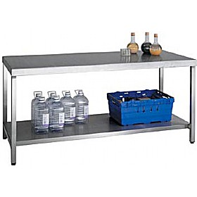Heavy Duty Stainless Steel Benches With Shelf