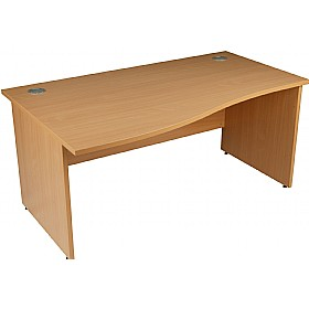 Modus Commercial Panel End Wave Desk £182 - Office Furniture
