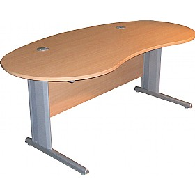 Modus Professional Cantilever Kidney Desk £320 - Office Furniture