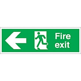 Fire Exit Left Arrow