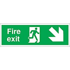 Fire Exit Right Diagonal Down Arrow