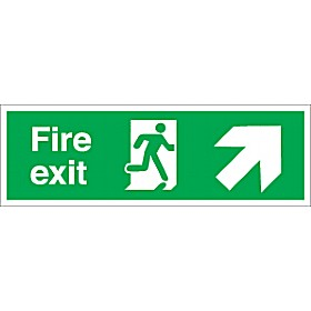 Fire Exit Up Right Diagonal Arrow