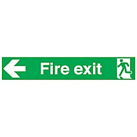 Wide Fire Exit Left Arrow