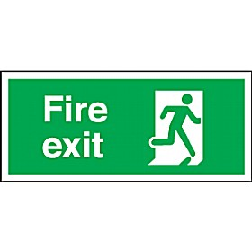 Fire Exit Running Man Right